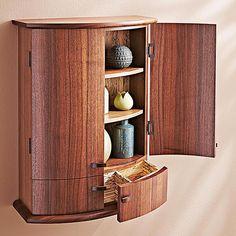 Coopered-door Cabinet Woodworking Plan from WOOD Magazine