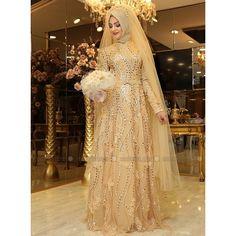 Hijab Weeding dress Turkish fashion