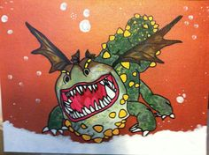 How to Train your Dragon Inspired painting by MaddoxsInspirations, $50.00