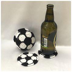 Football Coaster Set Crochet Pattern - Soccer ball - Fathers Day gift ideas