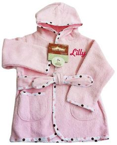 American Baby Organic 100% Cotton Terry Baby Bath Robe Pink - Personalized  Embroidery 3fc356f02