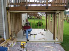 storage under deck ideas | ... building my shed was to build the roof within the joists of the deck