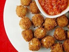 Receita Aperitivo : Mussarela à milanesa (ovo-lacto) de Cantinho Vegetariano
