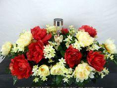 Solar Lite Angel Memorial Cemetery Flower Headstone/Tombstone Saddle Decoration