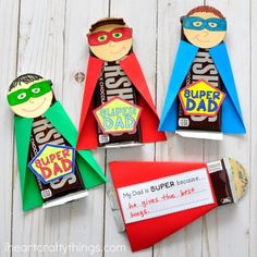 Father's Day Kids Crafts – Dad Gifts super dad - fathers day craft -crafts for kids- kid crafts - ac Kids Crafts, Kids Fathers Day Crafts, Fathers Day Art, Summer Crafts For Kids, Crafts For Kids To Make, Preschool Crafts, Gifts For Kids, Best Gifts For Dad, Fathers Day Ideas