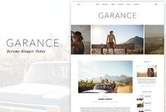 Garance - A WordPress Blog Theme. Travel Icons