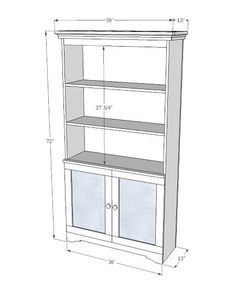 Armoire with Open Shelves and Magnetic Doors I wish I had the space and tools to make this.