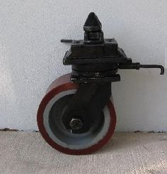 Container Caster with Polyurethane Wheel