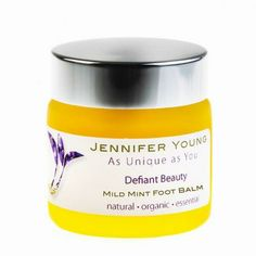 **NEW** - Defiant Beauty Mild Mint Foot Balm 50g. Only £17.50! BUY NOW at www.BeautyDespiteCancer.co.uk  #giftsforcancerpatients #cancerpatientes #cancerbeauty Spearmint Essential Oil, Orange Essential Oil, Shea Butter Oil, Gifts For Cancer Patients, Calendula Oil, Get Well Gifts, Healing Hands, Vitamin E, The Balm