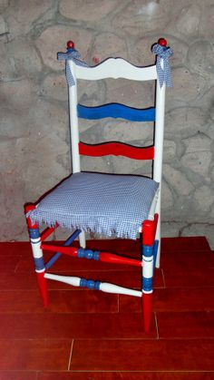 Hand painted Red White Blue Patriotic fourth by PerfectlyGoodStuff, $140.00