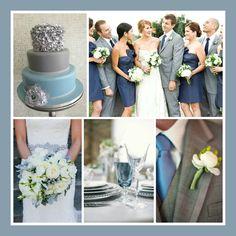 Indigo Blue And Grey Bridal Party 2 Pinterest Gray Parties Wedding Color Themes