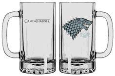 Game of Thrones Bierglas / Glas Stark (Arya, Ned, Robb, Sansa) Winter is coming