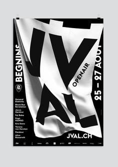 New poster design for the JVAL Openair in Begnins, Switzerland. More to see…