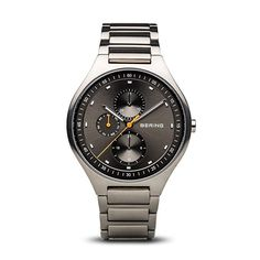 See BERING Time Mens Titanium Collection Watch with Ti Sapphire Glass Quartz movement 100 Meters wa women wrist watch. Amazing Watches, Cool Watches, Watches For Men, Wrist Watches, Herren Chronograph, Titanium Watches, Swiss Army Watches, Fashion Watches, Rolex