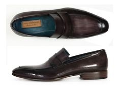 cca7df0dce4 Paul Parkman Black   Gray Hand-Painted Leather Loafer