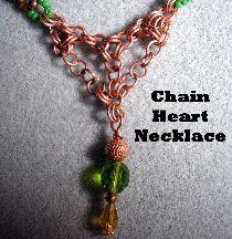 Chain Heart Necklace Pattern at Sova-Enterprises.com