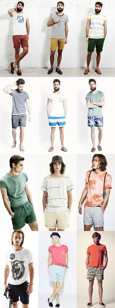 Men's Shorts and T-Shirt Outfits Lookbook