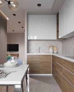 Model dan Tips Memilih Kitchen Set Minimalis Modern Terbaru 2020 Apartment Kitchen, Living Room Kitchen, Home Decor Kitchen, Kitchen Furniture, Home Kitchens, Furniture Stores, Small Modern Kitchens, Modern Kitchen Design, Interior Design Kitchen