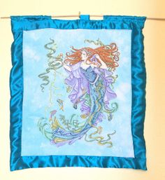 Sea Goddess Wall Hanging - wow! Stunning mermaid project designed by Joan Elliott, stitched by 'craftygirl78'