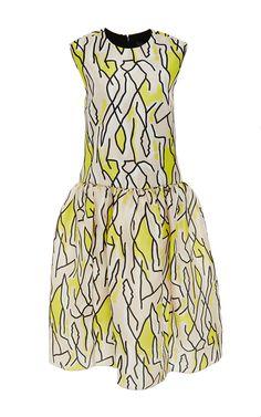M'O Exclusive: Meridian Printed Silk Dress by Ellery - Moda Operandi