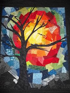 The Missing Piece: Spirit's Call to Evolve. This quilt can inspire tissue paper collage art for kids Tissue Paper Art, Paper Mosaic, Fall Art Projects, 5th Grade Art, Art Textile, Middle School Art, Autumn Art, Art Classroom, Art Plastique