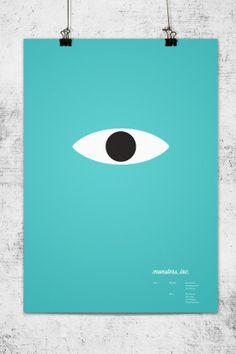 """Monstes, Inc."", Carteles minimalistas de Pixar - #graphic #poster #print"