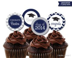 Printable Personalized Graduation Party Cupcake by MarleyDesign, $9.50