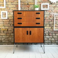 Upcycled mid century vintage Gplan tallboy. This piece is very well made and…