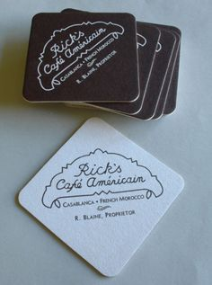 Cocktail Coasters from Rick's Cafe Americain as Depicted in Casablanca Bogart | eBay