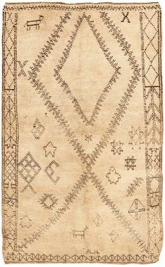 Mid century Moroccan rug