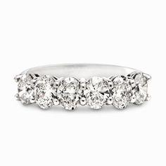 Six Oval Shaped Diamond Ring