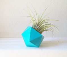 I make each of my geometric planters from scratch.  This one measures 1.75x 1.75 *** PLEASE NOTE THESE MEASUREMENTS**** it is small. And has a