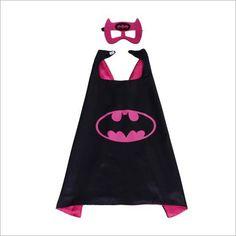 Kids Halloween Costume Ideas Cape and Mask Batwoman