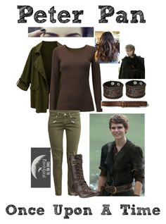 """""""Peter Pan~OUAT"""" by total-oncer ❤ liked on Polyvore featuring Once Upon a Time, Uniqlo, Abercrombie & Fitch, H&M, Nemesis and Timberland"""
