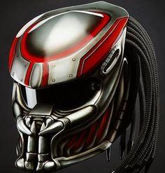 Custom Predator Motorcycle Helmet - DOT Approved