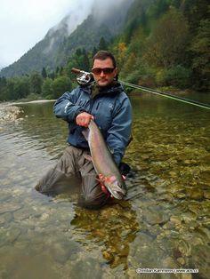 Christian sent us this Rainbow Trout picture! Caught in Slovenia, Sava Bohinjka…