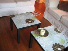 fabric top coffee table