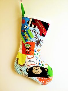 Custom Made Memory Quilt Christmas Stocking Made of by 22HANDS
