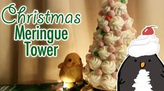 To celebrate Christmas and the Holiday season, Pengulin and her adopted brother Kiwi-kun make a tower out of meringue, a very common treat in New Zealand!