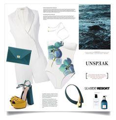 """Azzurro"" by marina-volaric ❤ liked on Polyvore featuring Bobbi Brown Cosmetics, Thierry Mugler, Jimmy Choo, Tory Burch, Hermès, Marni and Gucci"