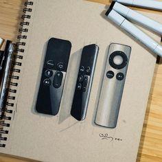 "795 Me gusta, 2 comentarios - INSTILL DESIGN (@instill_design) en Instagram: ""Apple TV Remotes by @shapingelements. . . . . #instilldesign #idsketching #sketch #sketching…"""