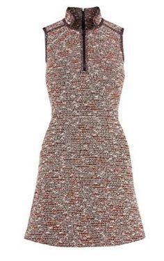 Neon tweed dress