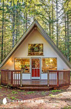 Secluded Luxury Cabin near Lake Cushman, Washington! cabin home, A Frame Cabin, A Frame House, Cabin Design, House Design, Triangle House, Tiny House, Lakefront Property, Luxury Cabin, Cabin Homes
