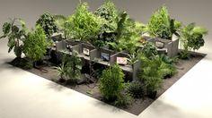 10ème Biennale Internationale Design Saint-Étienne fin du travail par Néoténie Bureau végétaux