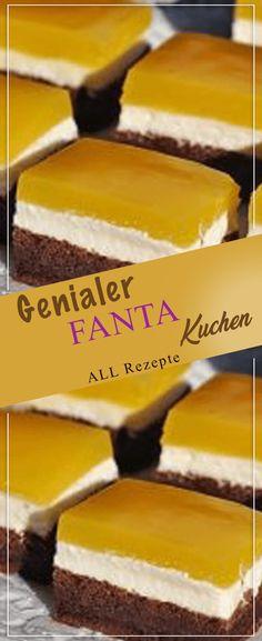 Ingenious FANTA cake with quark filling: if you don't taste it-Genialer FANTA-Kuchen mit Quark-Füllung: Wer ihn nicht kostet, kann es bereuen!… Ingenious FANTA cake with quark filling: If you don't cost it, you can regret it! Sheet Cake Recipes, Easy Cake Recipes, Easy Vanilla Cake Recipe, Easy Smoothie Recipes, New Cake, Food Cakes, Recipe For 4, Ice Cream Recipes, Easy Meals