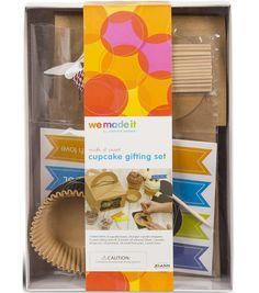 """we made it by Jennifer Garner """"Cupcake Gifting Set"""" Make it Sweet Online Craft Store, Craft Stores, Fabric Crafts, Paper Crafts, Cupcake Gift, Sweet Cupcakes, Joann Fabrics, Jennifer Garner, Craft Kits"""