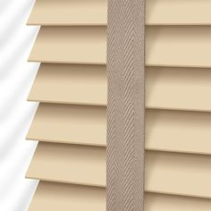 Tallow Cream & Truffle Wooden Blind - 50mm Slat