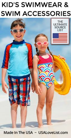e27e2add American Made Kid's Swimwear & Swim Accessories for Children of All Ages