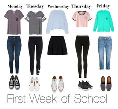 """1st week of school"" by minnie2013 ❤ liked on Polyvore featuring Victoria's Secret, J Brand, Converse, adidas Originals, Alexander Wang, Acne Studios, Topshop, NIKE and TOMS"
