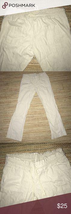 NWOT Roxy Pants NWOT Size Small Roxy linen pant Roxy Pants